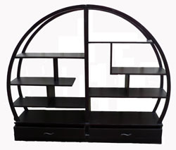 ensemble etag res chinese en deux parties ronde. Black Bedroom Furniture Sets. Home Design Ideas